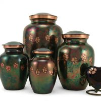 Pet cremation urn family size