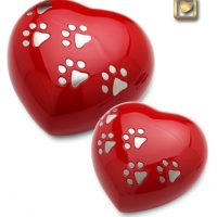 heart shaped pet urns