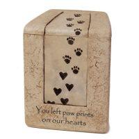 Stone Paw Print Pet Urn