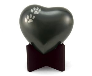 Heart Urn Slate with Paws