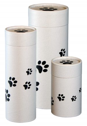 paw print scattering tube